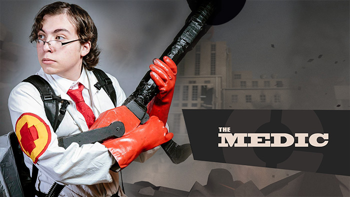 Dimitri in his last Team Fortress 2 cosplay